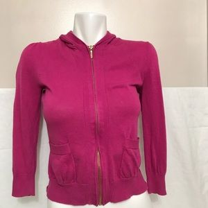 Juicy Couture Fuchsia Pink Bow Cotton Baby Hoodie